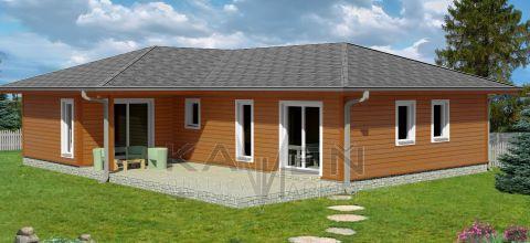 Zrubový jednopodlažný dom - ADAM