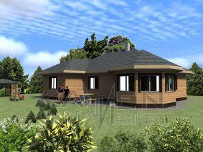 Zrubový rodinný dom - BUNGALOV 2D