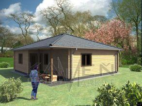 Zrubový jednopodlažný dom - BUNGALOV 3D