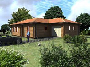 Zrubový jednopodlažný dom - BUNGALOV 4D
