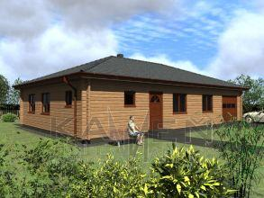 Zrubový jednopodlažný dom - BUNGALOV 5D