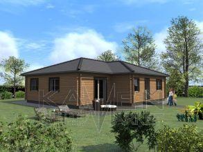 Zrubový jednopodlažný dom - BUNGALOV 6D
