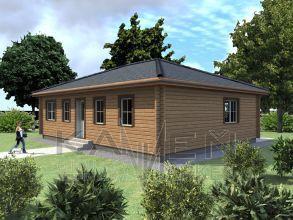 Zrubový jednopodlažný dom - BUNGALOV 7D