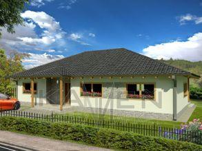 Zrubový dom Elegant - hranolová konštrukcia-