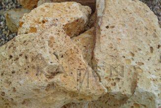 Tufa - kusový dekoračný kameň-Tufa žltá